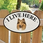 Picture of ROUGH COLLIE Dog Gate Sign