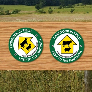 Picture of Live stock in field way marker - Pack of 2
