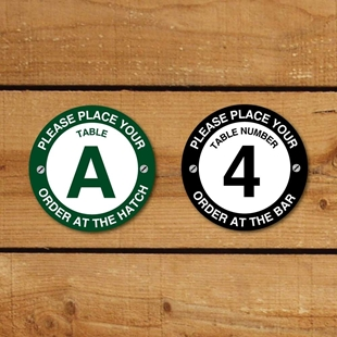 Picture of Restaurant Table Number Signs