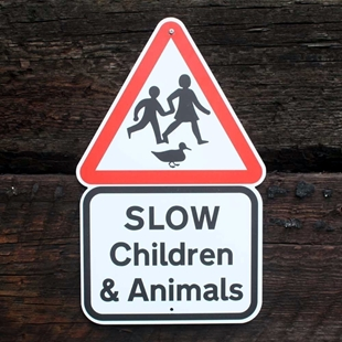 Picture of SLOW Children & Animals Sign