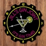 Picture of Personalised Gin Bar Neon Style Clock