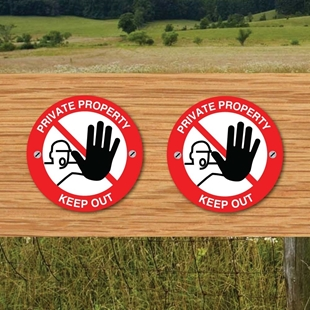 Picture of Private Keep out signs 2PACK