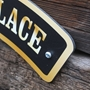 Picture of Outdoor Vintage Style Arched Custom House Sign