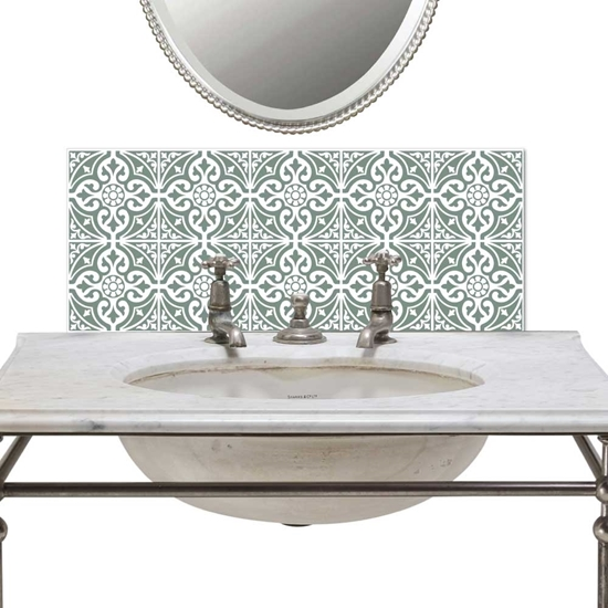 Picture of Victorian Tile Basin Splashback