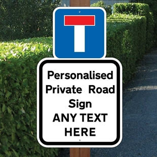 Picture of Personalised Private Road Sign No Entry
