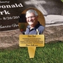 Picture of Outdoor Photo Grave Marker Plaque on stake with any text