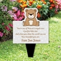 Picture of Memorial Baby funeral verse-Child Grave Ornament Personalised Teddy Bear Plaque