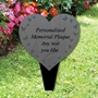 Picture of Personalised Heart Memorial Plaque Grave Sign, Grave Marker Slate Effect Plaque