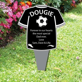 Picture of Football Shirt Memorial funeral Plaque