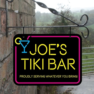 Picture of Tiki Bar Personalised Hanging  Bar Sign