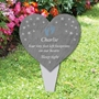 Picture of Baby Footprint personalised Heart Memorial Plaque