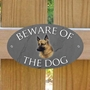 Picture of German Shepherd Beware of The Dog Sign - TRADE