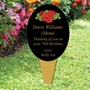 Picture of Rose Outdoor Memorial Grave Marker Spike