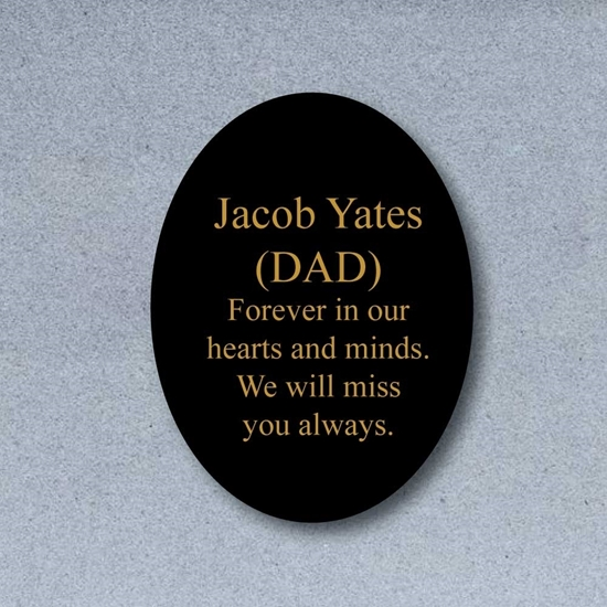 Picture of Shaped In Memory Grave Memorial Plaque