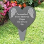 Picture of Angel Wing Heart Memorial Plaque Grave Sign
