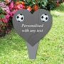 Picture of Football Heart Memorial Plaque Grave Sign