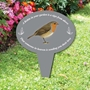 Picture of A Robin in your Garden Plaque on stake