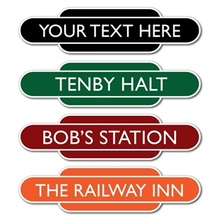 Picture of MINI Classic Railway Station Totem Sign