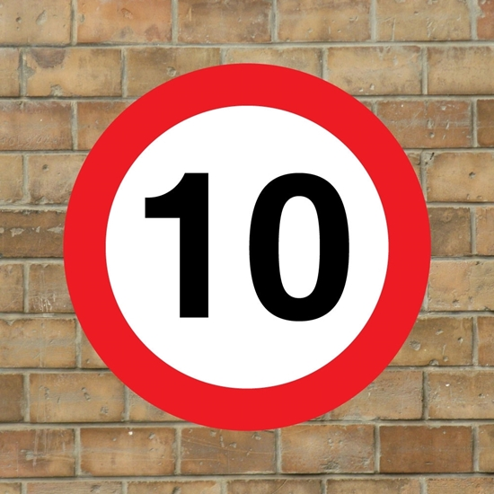 Picture of 10 mph Speed Sign - copy