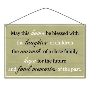 """Picture of """"May this home be blessed..."""" Metal Vintage Sign - copy"""
