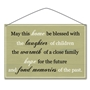 "Picture of ""May this home be blessed..."" Metal Vintage Sign - copy"