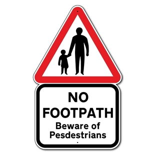 Picture of No Footpath Sign