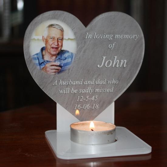 Picture of Heart Memorial Tea Light Keepsake
