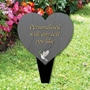Picture of Dove Heart Memorial Plaque Grave Sign