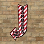 Picture of Barbers Hair Salon Arrow Sign
