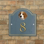 Picture of Beagle House Number Sign