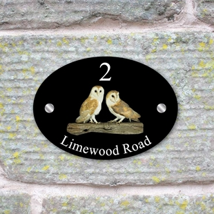 Picture of Barn Owl Bird House Sign Plaque