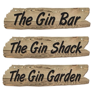 Picture of Driftwood Effect Gin Bar Sign