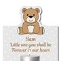 Picture of Teddy Bear Memorial Tea Light Keepsake