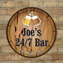 Picture of Personalised Pub Beer  Barrel  Bar  Wall Sign