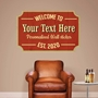 Picture of Personalised Bar Sign Wall Sign Sticker