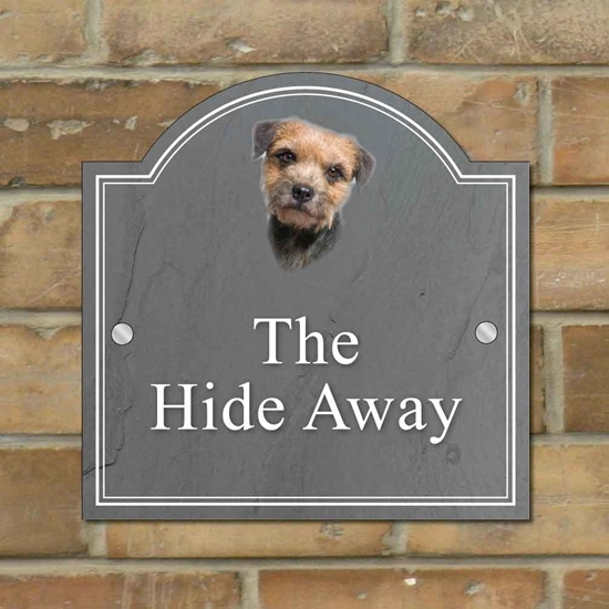Picture of Border Terrier House Sign