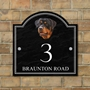 Picture of Personalised Rottweiler Dog House Number sign