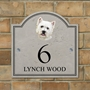 Picture of West Highland Terrier Personalised House Number sign