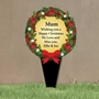 Picture of Personalised Christmas Wreath Memorial Plaque Grave Sign