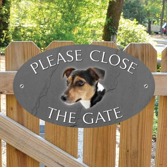 Picture of Jack Russell Gate Sign