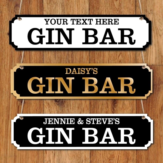 Picture of Personalised Gin Bar Sign