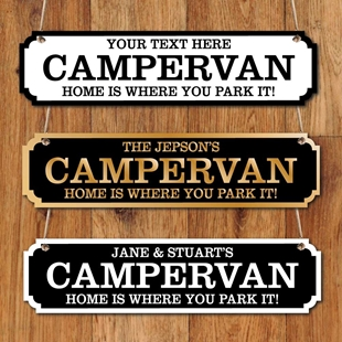 Picture of Personalised Campervan Road Sign