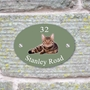 Picture of Personalised Tabby Cat House Sign