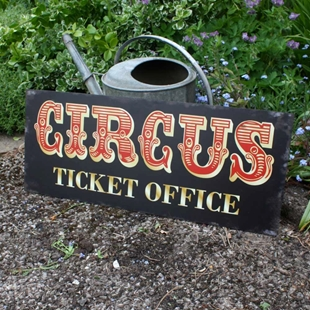 Picture of LARGE Circus Ticket Office Sign