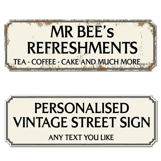 Picture of Rusty Style Vintage Street Road Sign - Deep