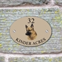 Picture of Personalised German Shepherd Oval House Sign