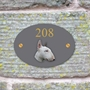 Picture of Personalised English Bull Terrier Oval House Sign