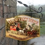 Picture of The Coach and Horses Personalised Home Bar Hanging  Pub Sign