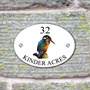 Picture of Kingfisher Bird House Sign Plaque