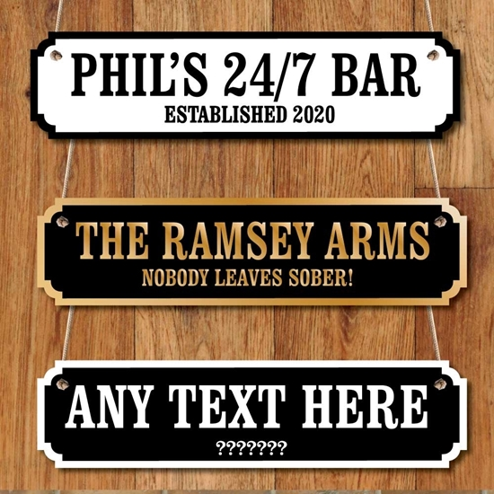 Picture of Personalised Home Bar Vintage Custom Road Sign